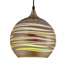 Светильник светодиодный подвесной E27 Хром, 3D HOROZ