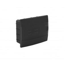 Бокс для автоматов пластиковый встраиваемый черный (12 модулей) Horoz