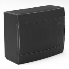 Бокс для автоматов пластиковый накладной черный (8 модулей) Horoz