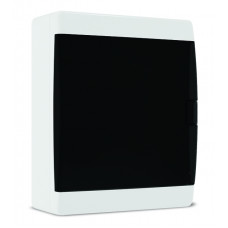 Щит пластиковый навесной IP-41, прозрачная черная дверца (24 модуля)