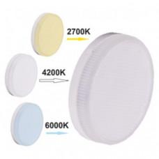 Светодиодная лампа GX53 7Вт LED Premium с изменяемой цветовой температурой (2700/4200/6000К) Ecola