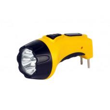 Фонарь аккумуляторный светодиодный 15 LED с прямой зарядкой Smartbuy желтый