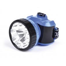 Фонарь налобный аккумуляторный 1W+8 LED SmartBuy синий