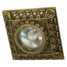 Встраиваемый точечный светильник Гипсовый RD 014 AB квадрат бронза