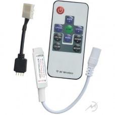 Контроллер MINI RGB 72W 12V (144W 24V) 6A Экола с переходником и радиопультом управления