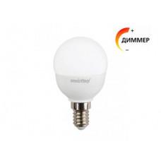 Светодиодная лампа для диммера Е14 шар 3000К P45D