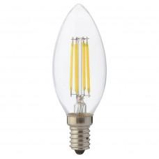 Светодиодная филаментная лампа Е14 свеча 6Вт 2700K Horoz Electric