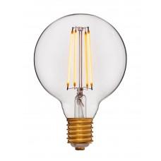Светодиодная ретро лампа LED G95 2C4+2000K 4Вт 400Lm  E27 240V