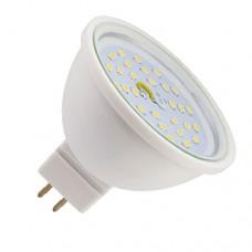 Светодиодная лампа MR16 GU5.3 7Вт 2800К (композит) прозрачное стекло Ecola