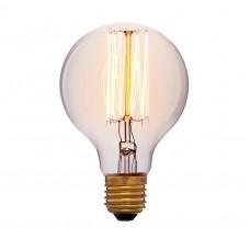 Ретро лампа G80 17F2 40Вт E27 (золотая)