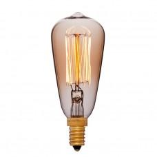 Ретро лампаST48 F2 25Вт E14 (золотая)