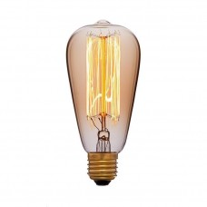Ретро лампа ST64 19F2 60Вт E27 (прозрачная)