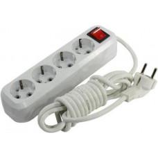 Удлинитель Smartbuy 4 гнезда 5м 16A 3.5кВт с выключателем и заземлением