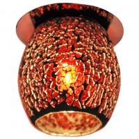 Декоративный точечный светильник FT 867 G9 мозаика хром/черно-красный