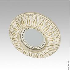 Встраиваемый точечный светильник Гипсовый RD 001 WH/G белый/золото
