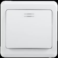 Выключатель 1-кл. СП Вега 10A IP 20 BC10-1-1-ВБ с индикатором белый IEK EVV11-K01-10-DM