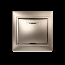 Выключатель 1-кл. с индикатором Smartbuy Венера шампань