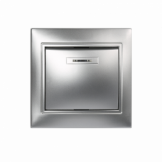 Выключатель 1-кл. с индикатором Smartbuy Венера серебро