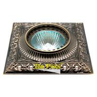 Декоративный точечный светильник FT1124 GAB зеленый/античное золото
