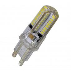 Светодиодная лампа G9 7Вт 3000К  220В (силикон) Elvan