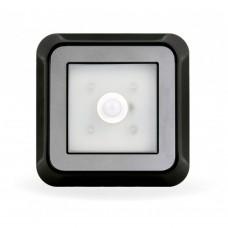 Фонарь светодиодный с датчиком движения и света 4 LED черный