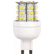 Светодиодная лампа G9 3.6Вт 2700К 220В (без защиты) Ecola (кукуруза)