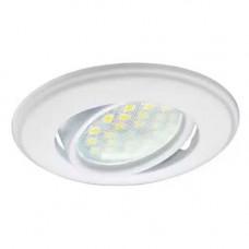 Встраиваемый светильник Экола MR16 поворотный плоский  хром