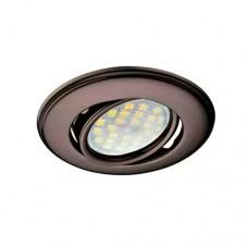 Встраиваемый светильник Экола MR16 поворотный выпуклый черный хром